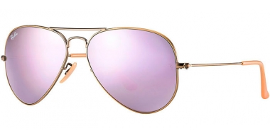 Sunglasses - Ray-Ban® - Ray-Ban® RB3025 AVIATOR LARGE METAL - 167/4K DEMIGLOS BRUSCHED BRONZE // LILLAC MIRROR