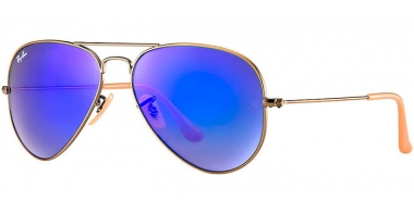 Gafas de Sol - Ray-Ban® - Ray-Ban® RB3025 AVIATOR LARGE METAL - 167/68 DEMIGLOS BRUSCHED BRONZE // BLUE MIRROR