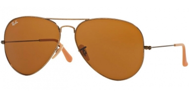 Gafas de Sol - Ray-Ban® - Ray-Ban® RB3025 AVIATOR LARGE METAL - 177/33 ANTIQUE GOLD // BROWN