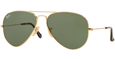 Gafas de Sol - Ray-Ban® - Ray-Ban® RB3025 AVIATOR LARGE METAL - 181 GOLD // DARK GREEN