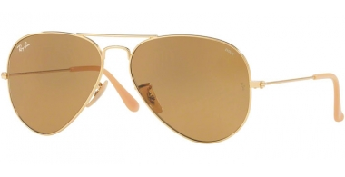 Gafas de Sol - Ray-Ban® - Ray-Ban® RB3025 AVIATOR LARGE METAL - 90644I GOLD // PHOTOCROMIC BROWN