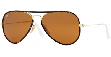 Sunglasses - Ray-Ban® - Ray-Ban® RB3025JM AVIATOR FULL COLOR - 001 HAVANA GOLD // BROWN