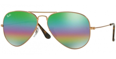 Gafas de Sol - Ray-Ban® - Ray-Ban® RB3025 AVIATOR LARGE METAL - 9018C3 METLALLIC MEDIUM BRONZE // LIGHT GREY MIRROR RAINBOW 2