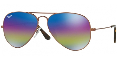 Gafas de Sol - Ray-Ban® - Ray-Ban® RB3025 AVIATOR LARGE METAL - 9019C2 METALLIC DARK BRONZE // LIGHT GREY MIRROR RAINBOW 2