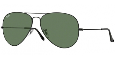 Gafas de Sol - Ray-Ban® - Ray-Ban® RB3026 AVIATOR LARGE METAL II - L2821 BLACK // CRYSTAL GREEN