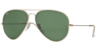 Gafas de Sol - Ray-Ban® - Ray-Ban® RB3026 AVIATOR LARGE METAL II - L2846 ARISTA // CRYSTAL GREEN