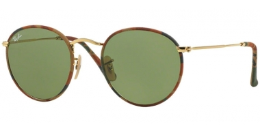 Sunglasses - Ray-Ban® - Ray-Ban® RB3447JM ROUND METAL - 168/4E CAMOUFLAGE BROWN GREEN // GREEN
