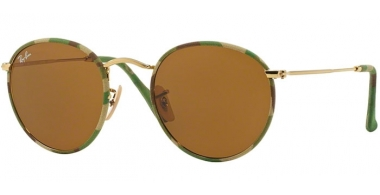 Sunglasses - Ray-Ban® - Ray-Ban® RB3447JM ROUND METAL - 169 CAMOUFLAGE GREEN BEIGE // BROWN