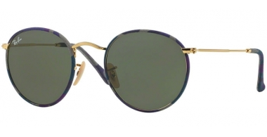 Sunglasses - Ray-Ban® - Ray-Ban® RB3447JM ROUND METAL - 172 CAMOFLAGE VIOLET BLUE // GREEN