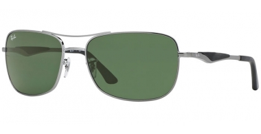 Sunglasses - Ray-Ban® - Ray-Ban® RB3515 - 004/71  GUNMETAL // GREEN