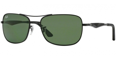 Sunglasses - Ray-Ban® - Ray-Ban® RB3515 - 006/71  MATTE BLACK // GREEN