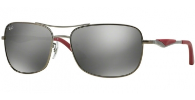 Sunglasses - Ray-Ban® - Ray-Ban® RB3515 - 029/6G  MATTE GUNMETAL // GREY MIRROR SILVER