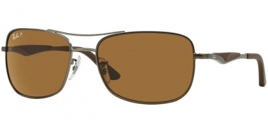 Sunglasses - Ray-Ban® - Ray-Ban® RB3515 - 029/83  MATTE GUNMETAL // BROWN POLARIZED