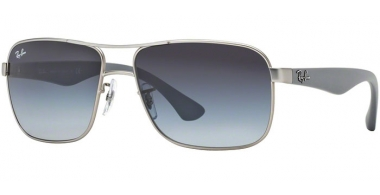 Sunglasses - Ray-Ban® - Ray-Ban® RB3516 - 019/8G MATTE SILVER // GREY GRADIENT