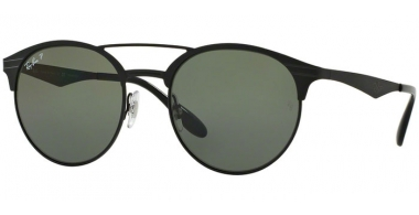 Sunglasses - Ray-Ban® - Ray-Ban® RB3545 - 186/9A SHINY BLACK TOP MATTE BLACK // GREEN POLARIZED