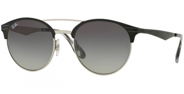 Sunglasses - Ray-Ban® - Ray-Ban® RB3545 - 900411 TOP BLACK ON SILVER // GREY GRADIENT