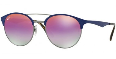 Sunglasses - Ray-Ban® - Ray-Ban® RB3545 - 9005A9 GUNMETAL MATTE BLUE // VIOLET GRADIENT