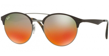 Sunglasses - Ray-Ban® - Ray-Ban® RB3545 - 9006A8 GUNMETAL MATTE BROWN // SILVER GRADIENT