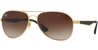 Gafas de Sol - Ray-Ban® - Ray-Ban® RB3549 - 112/13 MATTE GOLD // BROWN GRADIENT