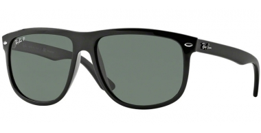 Sunglasses - Ray-Ban® - Ray-Ban® RB4147 - 601/58 BLACK // CRYSTAL GREEN POLARIZED