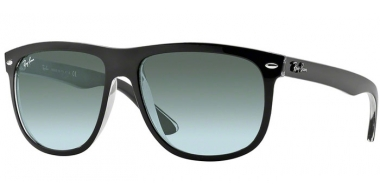 Sunglasses - Ray-Ban® - Ray-Ban® RB4147 - 603971 TOP BLACK ON TRASPARENT // GREY GRADIENT AZURE