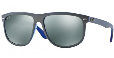 Sunglasses - Ray-Ban® - Ray-Ban® RB4147 - 604140 TOP LIGHT GREY ON LIGHT BLUE //GREY MIRROR SILVER