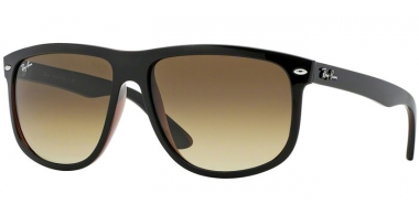Sunglasses - Ray-Ban® - Ray-Ban® RB4147 - 609585 TOP BLACK ON BROWN // BROWN GRADIENT DARK BROWN