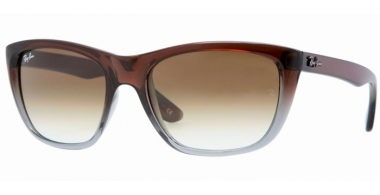 Sunglasses - Ray-Ban® - Ray-Ban® RB4154 - 824/51 BROWN GRADIENT ON GREY TRANSPARENT // CRYSTAL BROWN GRADIENT