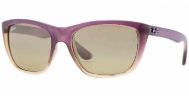 Sunglasses - Ray-Ban® - Ray-Ban® RB4154 - 858/3K GRADIENT SHINE VIOLET // CRYSTAL BROWN MIRROR SILVER GRANDIENT