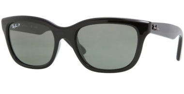 Sunglasses - Ray-Ban® - Ray-Ban® RB4159 - 601/58 BLACK // CRYSTAL GREEN POLARIZED