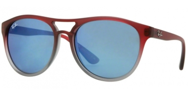 Gafas de Sol - Ray-Ban® - Ray-Ban® RB4170 BRAD - 856/55 TOP RED ON CLEAR GREY // BLUE MIRROR