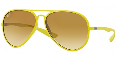Sunglasses - Ray-Ban® - Ray-Ban® RB4180 AVIATOR LITERFORCE - 60852L METALLIZED YELLOW // YELLOW GRADIENT BROWN