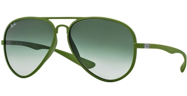 Sunglasses - Ray-Ban® - Ray-Ban® RB4180 AVIATOR LITERFORCE - 60868E  METALLIZED GREEN // GREEN GRADIENT
