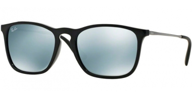 Gafas de Sol - Ray-Ban® - Ray-Ban® RB4187 CHRIS - 601/30 BLACK // GREEN MIRROR SILVER