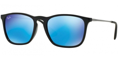 Gafas de Sol - Ray-Ban® - Ray-Ban® RB4187 CHRIS - 601/55 BLACK // LIGHT GREEN MIRROR BLUE