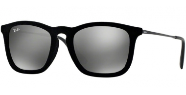 Gafas de Sol - Ray-Ban® - Ray-Ban® RB4187 CHRIS - 60756G FLOCK BLACK // GREY MIRROR SILVER