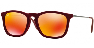 Gafas de Sol - Ray-Ban® - Ray-Ban® RB4187 CHRIS - 60786Q FLOCK BORDEAUX // RED MULTILAYER