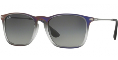 Gafas de Sol - Ray-Ban® - Ray-Ban® RB4187 CHRIS - 622311 VIOLET SHOT ON BLACK // GREY GRADIENT DARK GREY
