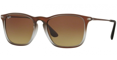 Gafas de Sol - Ray-Ban® - Ray-Ban® RB4187 CHRIS - 622413 BROWN SHOT ON BLACK // BROWN GRADIENT DARK BROWN