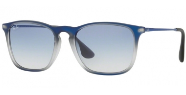 Gafas de Sol - Ray-Ban® - Ray-Ban® RB4187 CHRIS - 622519 BLUE SHOT ON BLACK // CLEAR GRADIENT LIGHT BLUE