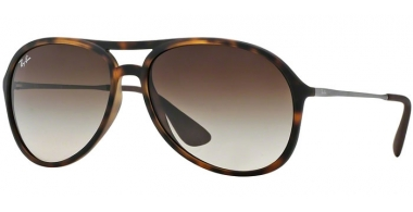 Gafas de Sol - Ray-Ban® - Ray-Ban® RB4201 ALEX - 865/13 RUBBER HAVANA // BROWN GRADIENT