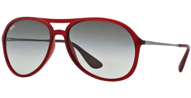 Gafas de Sol - Ray-Ban® - Ray-Ban® RB4201 ALEX - 898/11 RUBBER TRASPARENT RED // GREY GRADIENT