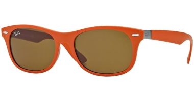 Gafas de Sol - Ray-Ban® - Ray-Ban® RB4207 - 609773 MATTE ORANGE // DARK BROWN