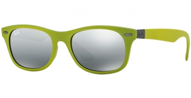 Gafas de Sol - Ray-Ban® - Ray-Ban® RB4207 - 609988 MATTE ACID GREEN // GREY MIRROR SILVER GRADIENT