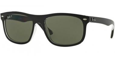 Gafas de Sol - Ray-Ban® - Ray-Ban® RB4226 - 60529A TOP MATTE BLACK ON TRANSPARENT // DARK GREEN POLARIZED