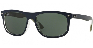 Gafas de Sol - Ray-Ban® - Ray-Ban® RB4226 - 618871 TOP MATTE BLUE ON MILITARY GREEN // DARK GREEN