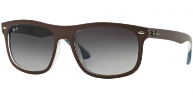 Sunglasses - Ray-Ban® - Ray-Ban® RB4226 - 61898G TOP MATTE CHOCCOLATE ON BLUE // GREY GRADIENT DARK GREY