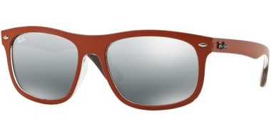 Sunglasses - Ray-Ban® - Ray-Ban® RB4226 - 619088 TOP MATTE ORANGE ON VIOLET // GREY MIRROR SILVER GRADIENT