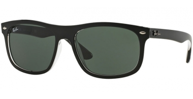 Gafas de Sol - Ray-Ban® - Ray-Ban® RB4226 - 605271 TOP MATTE BLACK ON TRANSPARENT // DARK GREEN