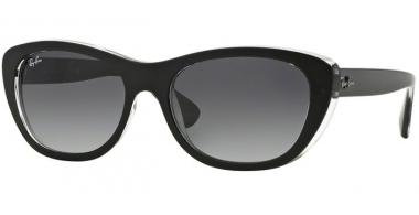 Sunglasses - Ray-Ban® - Ray-Ban® RB4227 - 60528G TOP MATTE BLACK ON TRANSPARENT // GREY GRADIENT DARK GREY